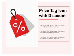 Price Tag Icon With Discount