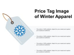 Price Tag Image Of Winter Apparel