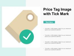 Price Tag Image With Tick Mark