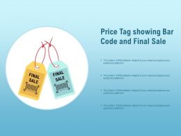 Price Tag Showing Bar Code And Final Sale