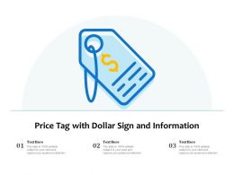 Price Tag With Dollar Sign And Information