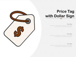 Price Tag With Dollar Sign