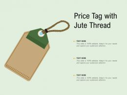 Price Tag With Jute Thread