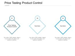 Price Testing Product Control Ppt Powerpoint Presentation File Example Cpb