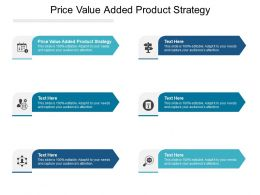 Price Value Added Product Strategy Ppt Powerpoint Presentation Infographic Template Cpb