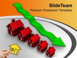 Prices Decreases Of Real Estate Powerpoint Templates Ppt Themes And Graphics 0313