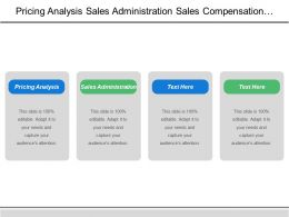 Pricing Analysis Sales Administration Sales Compensation Plans Administration