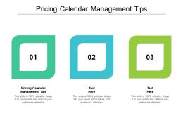 Pricing Calendar Management Tips Ppt Powerpoint Presentation Icon Professional Cpb