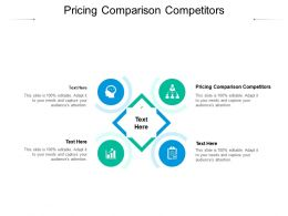 Pricing Comparison Competitors Ppt Powerpoint Presentation Layouts Rules Cpb