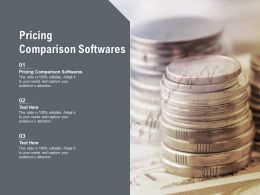 Pricing Comparison Softwares Ppt Powerpoint Presentation Gallery Layout Cpb