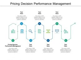 Pricing Decision Performance Management Ppt Powerpoint Presentation Show Deck Cpb