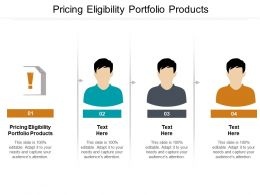 Pricing Eligibility Portfolio Products Ppt Powerpoint Presentation Pictures Model Cpb