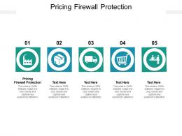 Pricing Firewall Protection Ppt Powerpoint Presentation Slides Icon Cpb