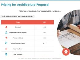 Pricing For Architecture Proposal Ppt Powerpoint Presentation Background Images
