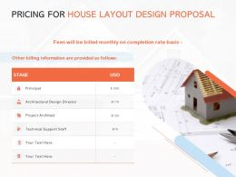 Pricing For House Layout Design Proposal Ppt Powerpoint Presentation Visuals