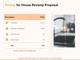 Pricing For House Revamp Proposal Ppt Powerpoint Presentation File Images