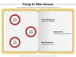 Pricing For Other Services Management Ppt Powerpoint Presentation Graphics
