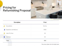 Pricing For Refurnishing Proposal Ppt Powerpoint Presentation Ideas File