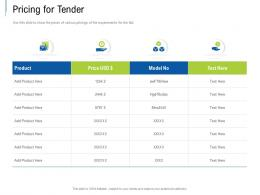 Pricing For Tender Tender Response Management Ppt Powerpoint Presentation Ideas Picture