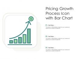 Pricing Growth Process Icon With Bar Chart