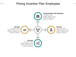 Pricing Incentive Plan Employees Ppt Powerpoint Presentation Gallery Model Cpb