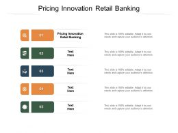 Pricing Innovation Retail Banking Ppt Powerpoint Presentationmodel Brochure Cpb