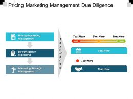 Pricing Marketing Management Due Diligence Marketing Marketing Strategic Management Cpb