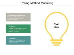Pricing Method Marketing Ppt Powerpoint Presentation Portfolio Vector Cpb