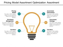 Pricing Model Assortment Optimization Assortment Strategy Distributor Management Cpb