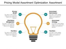 Pricing Model Assortment Optimization Assortment Strategy Distributor Management Cpb