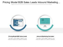 Pricing Model B2b Sales Leads Inbound Marketing Calculator Cpb