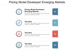Pricing Model Developed Emerging Markets Ppt Powerpoint Presentation File Cpb