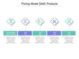 Pricing Model SAAS Products Ppt Powerpoint Presentation Outline Inspiration Cpb