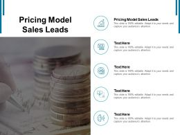Pricing Model Sales Leads Ppt Powerpoint Presentation Inspiration Designs Download Cpb