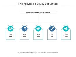 Pricing Models Equity Derivatives Ppt Powerpoint Presentation Show Designs Cpb