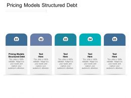 Pricing Models Structured Debt Ppt Powerpoint Presentation Icon Files Cpb