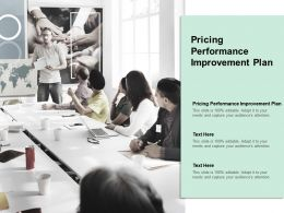 Pricing Performance Improvement Plan Ppt Powerpoint Presentation Gallery Graphics Cpb