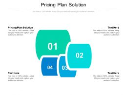 Pricing Plan Solution Ppt Powerpoint Presentation Infographics Mockup Cpb