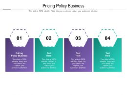 Pricing Policy Business Ppt Powerpoint Presentation Professional Objects Cpb