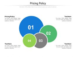 Pricing Policy Ppt Powerpoint Presentation Styles Slides Cpb