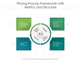Pricing Process Framework With Metrics And Structure