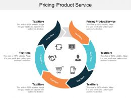 Pricing Product Service Ppt Powerpoint Presentation Infographic Template Deck Cpb
