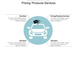 Pricing Products Services Ppt Powerpoint Presentation Model Template Cpb