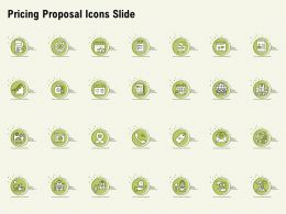Pricing Proposal Icons Slide Ppt Powerpoint Presentation Summary Ideas