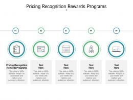 Pricing Recognition Rewards Programs Ppt Powerpoint Presentation Ideas Themes Cpb