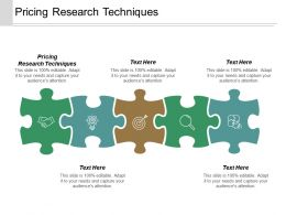 Pricing Research Techniques Ppt Powerpoint Presentation Inspiration Master Slide Cpb