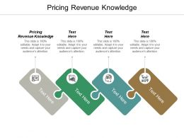 Pricing Revenue Knowledge Ppt Powerpoint Presentation Professional Diagrams Cpb