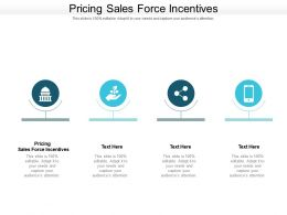 Pricing Sales Force Incentives Ppt Powerpoint Presentation Outline Graphic Tips Cpb
