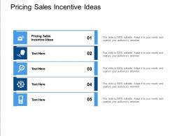 Pricing Sales Incentive Ideas Ppt Powerpoint Presentation Show Gridlines Cpb