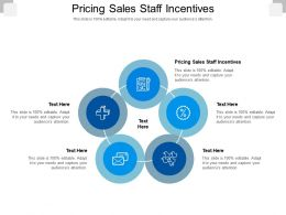 Pricing Sales Staff Incentives Ppt Powerpoint Presentation Professional Design Inspiration Cpb